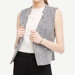 Ann Taylor Tweed Vest